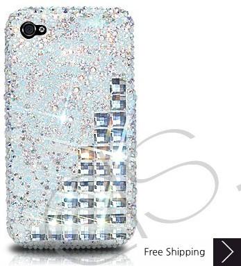 Scatter Cubical Crystallized Swarovski Phone Case - Silver