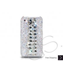 Cubical Silver Crystallized Swarovski Phone Case