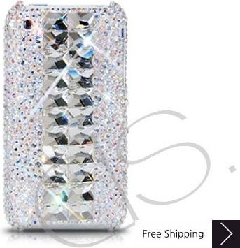 Cubical Silver Crystallized Swarovski Phone Case