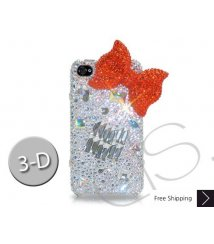 Cubical Ribbon 3D Crystallized Swarovski Phone Case - Red