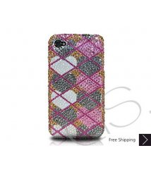 Grid Hearts Crystallized Swarovski Phone Case