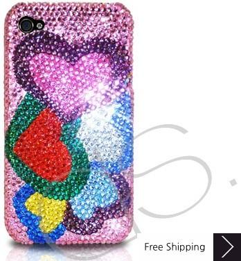 Loving Hearts Crystallized Swarovski Phone Case