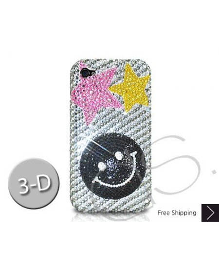 Smile Stars 3D Crystallized Swarovski Phone Case