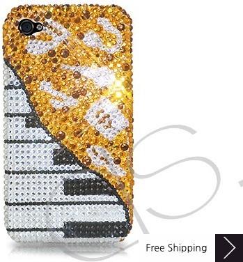 ピアノ クリスタルスワロフ スキー電話ケース