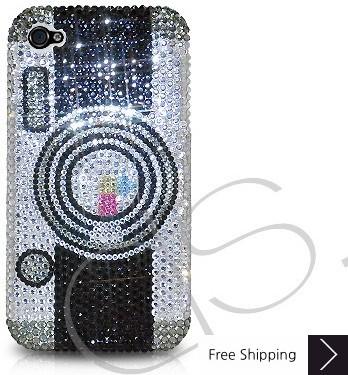 カメラのクリスタルスワロフ スキー電話ケース
