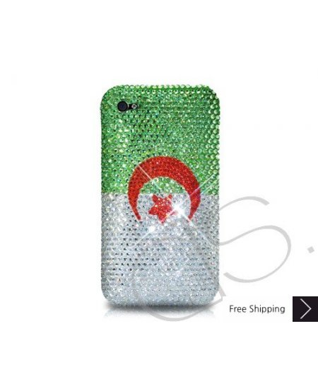 National Series Crystallized Swarovski Phone Case - Algeria