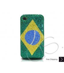National Series Crystallized Swarovski Phone Case - Brazil