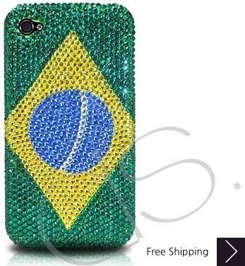 ナショナル シリーズ クリスタルスワロフ スキー電話ケース - ブラジル
