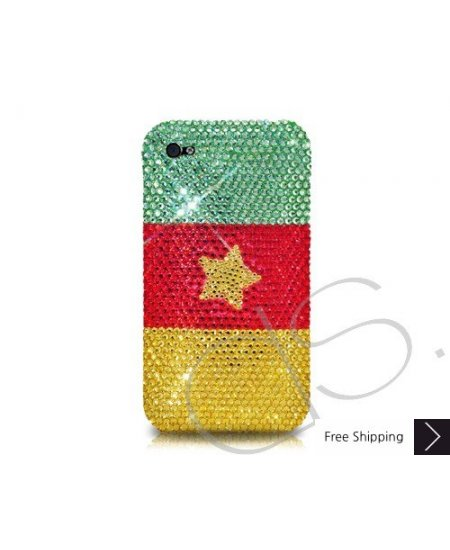 National Series Crystallized Swarovski Phone Case - Cameroon