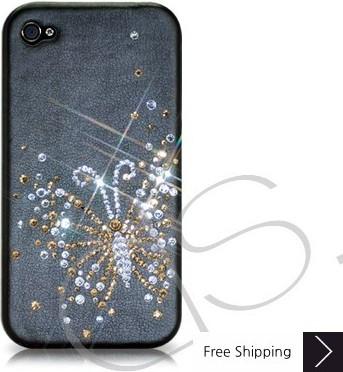 蝶のクリスタルスワロフ スキー電話ケース