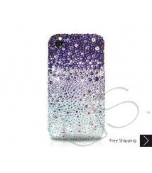 Gradation Bling Swarovski Crystal iPhone 8 and iPhone 8 Plus Case - Purple
