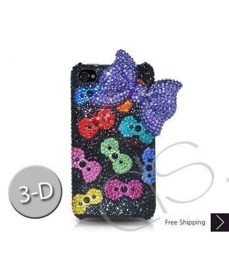 Ribbon 3D Crystallized Swarovski iPhone 4 Case - Multicolor