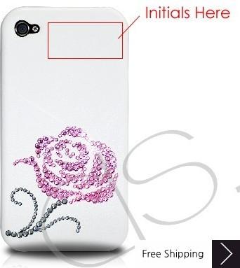 ピンク バラ科結晶スワロフ スキー電話ケース バレンタイン特集 - ピンク (ありがとう)