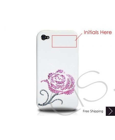 Pink Rosaceae Crystallized Swarovski Phone Case Valentine's Special - Pink (Thank you)
