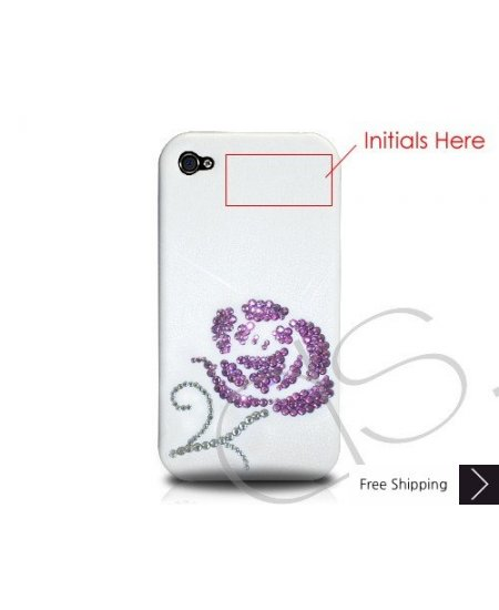 Rosaceae Crystallized Swarovski Phone Case Valentine's Special - Purple (Love at First Sight)