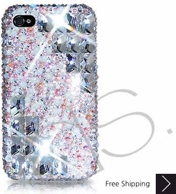 Symmetric Swarovski Crystal Phone Case - Platinum