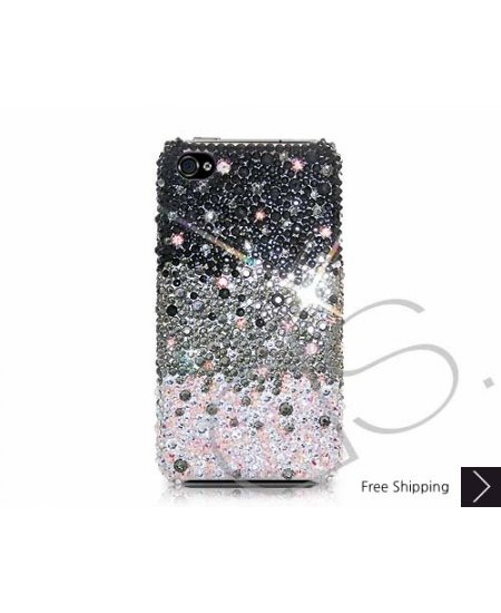 rivenditore all'ingrosso d80b4 83e9f Gradation Bling Swarovski Crystal iPhone XS and MAX iPhone XR Case - Black