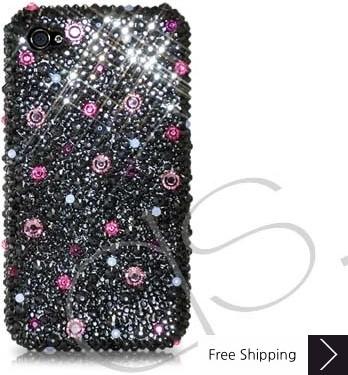 Color Dotted Swarovski Crystal Phone Case