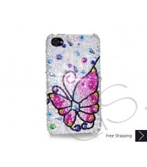 Butterfly Fantasy Swarovski Crystal Phone Case - Pink