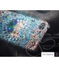 Cubic Heart Swarovski Crystal Phone Case - Silver