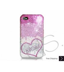 Loving Heart Personalized Swarovski Crystal Phone Case