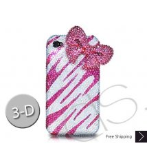 Elegant Ribbon 3D Swarovski Crystal Phone Case - Pink