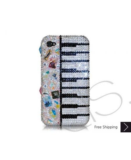 Piano Keys Swarovski Crystal Phone Case