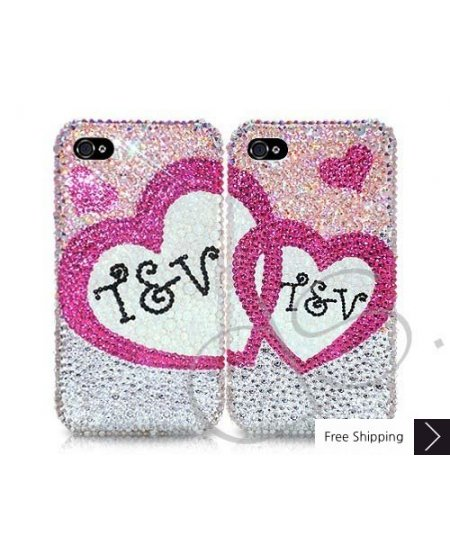 Lover's Personalized Swarovski Crystal Phone Case