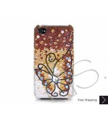 Butterfly Fantasy Swarovski Crystal Phone Case - Gold