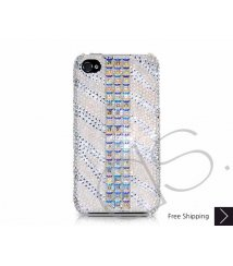 Cubical Stripe Swarovski Crystal Phone Case