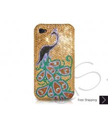 Peacock Swarovski Crystal Phone Case