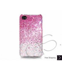 Gradation Swarovski Crystal Phone Case - Pink