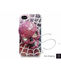 Scary Skull 3D Swarovski Crystal Phone Case - Red