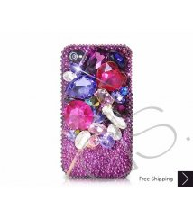 Colorato 3D Swarovski Crystal Phone Case - Purple