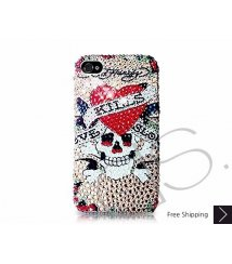 Pirate Skull Swarovski Crystal Phone Case