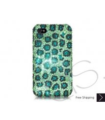 Leopardo Bling Swarovski Crystal iPhone 8 and iPhone 8 Plus Case - Green