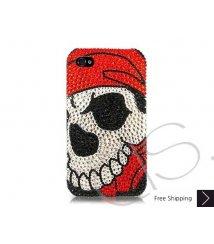 Skull Face Swarovski Crystal Phone Case