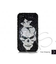 Skull King Swarovski Crystal Phone Case
