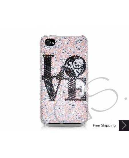 Love Skull Swarovski Crystal Phone Case