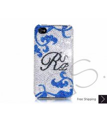 Floral Personalized Swarovski Crystal Phone Case