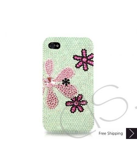 Fiori Swarovski Crystal Phone Case - Green