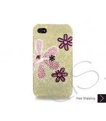 Fiori Swarovski Crystal Phone Case - Yellow