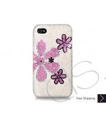 Fiori Swarovski Crystal Phone Case - White