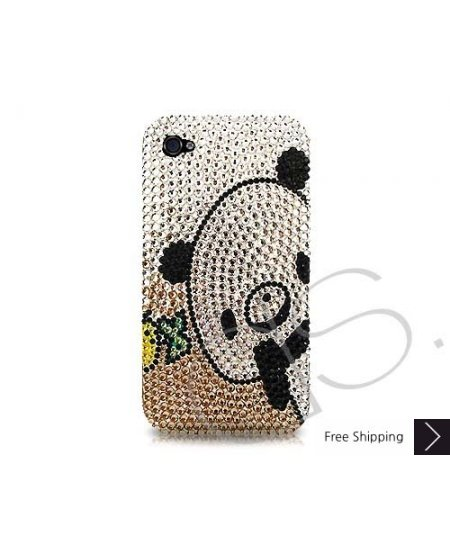 Panda Swarovski Crystal Phone Case