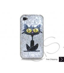Catty Swarovski Crystal Phone Case