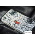 Catty Face Swarovski Crystal Phone Case