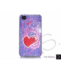 Swirling Heart Swarovski Crystal Phone Case