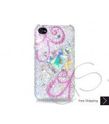 Spiral Swarovski Crystal Phone Case