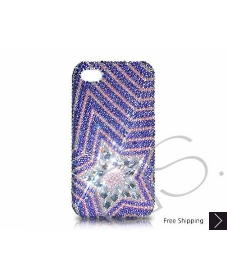 Multi Stars Swarovski Crystal Phone Case - Purple