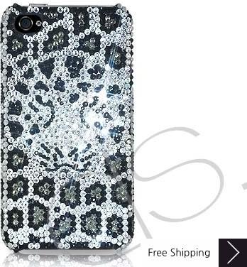 Leopard Swarovski Crystal Phone Case